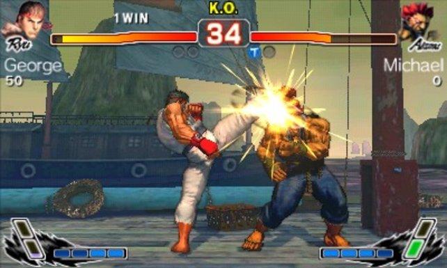 Im 3DS-Ableger trefft ihr auf bekannte Kämpfer und deren typischen Angriffsmuster.