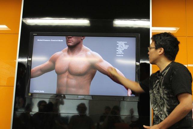 Hier veranschaulicht uns ein Entwickler, wie Schwellungen und wackelnde Muskeln im fertigen Spiel funktionieren.