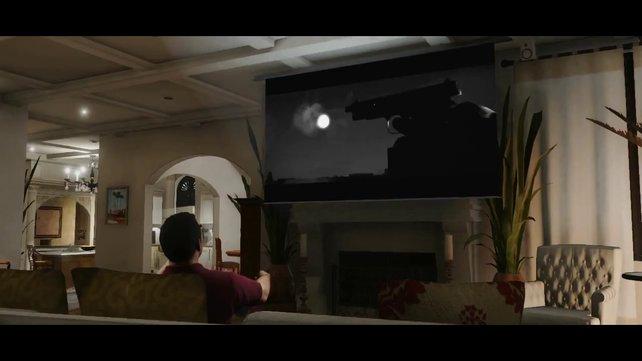 Michael schaut sich offenbar einen Film an und schaltet dabei ab.