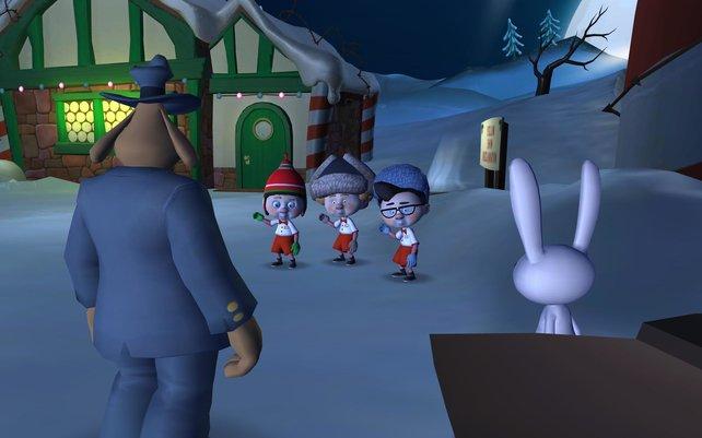Kaum angekommen am Nordpol werdet ihr von alten Bekannten empfangen.