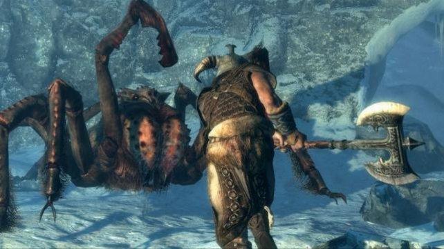 In Skyrim tummeln sich eklige Spinnenviecher.
