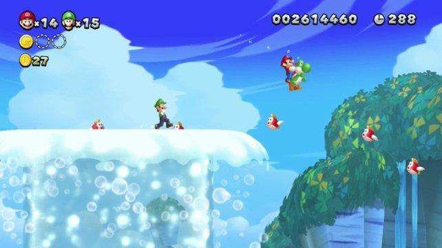 Die Grafik des neuen Mario ist nicht spektakulär, aber hübsch.