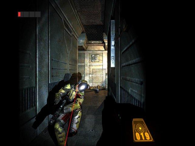 Riddick im Kampf gegen Gefängniswärter...