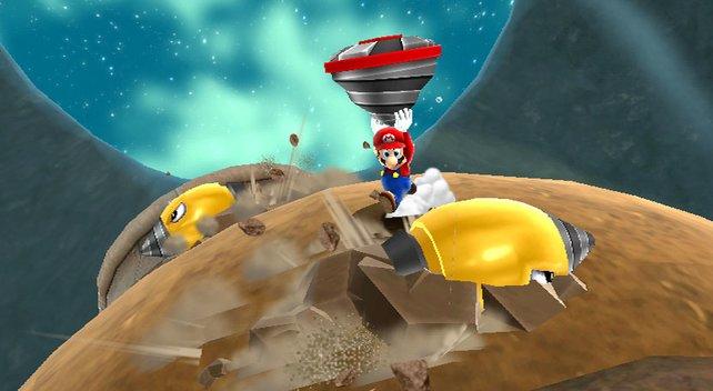 Weniger Story, mehr Action: Mario benutzt seinen Kreisel.