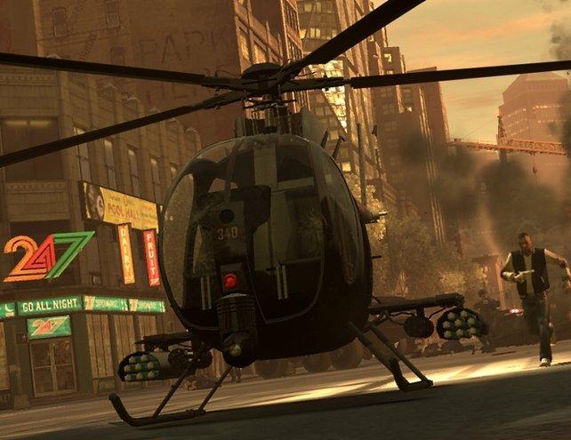 Dieser neue Heli wird von euch gesteuert. Also lieber anschnallen und Fallschirm nicht vergessen!