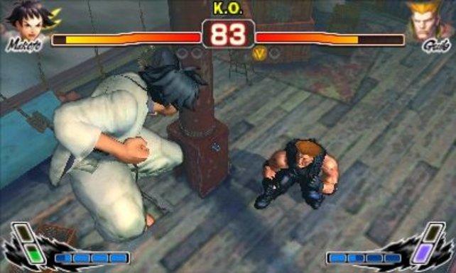 Die Schulterperspektive in Super Street Fighter 4 3D Edition.