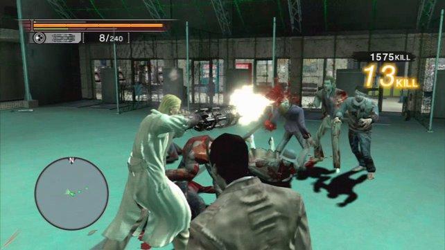 Vorsicht: Zombies strömen von allen Seiten herbei.