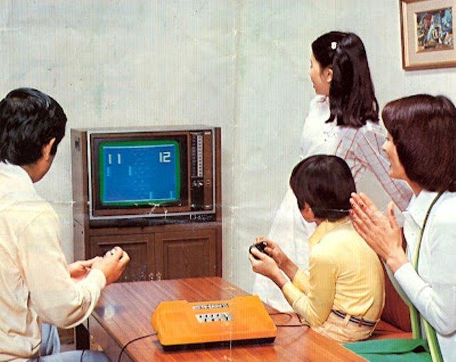 Eine frühe Nintendo-Werbung soll Japanern das Color TV Game 15 schmackhaft machen.