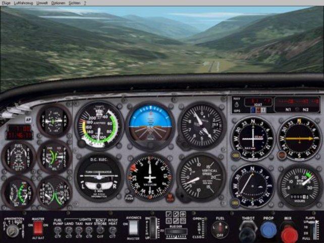 Das Cockpit einer Cessna