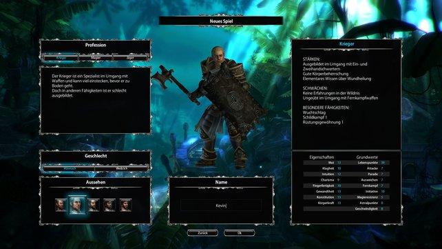Zu Beginn des Spiels wählt ihr eine Charakterklasse für euren Helden.