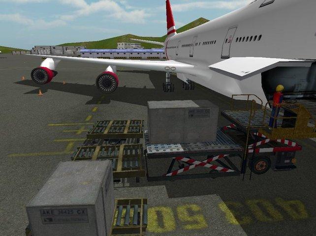 Das Flugzeug muss beladen sein, bevor die Gäste an Bord gehen.