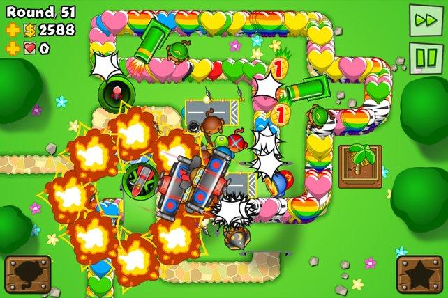 Rambazamba auf dem Bildschirm - ab Runde 40 ein häufiges Bild.