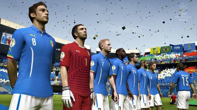 Die Spielermodelle bewegen sich auf dem Niveau von Fifa 14 - allerdings gibt es im Spiel 100 neue Animationen zu sehen.