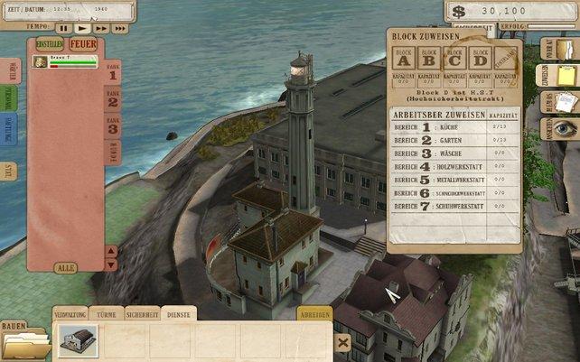 In Alcatraz steuert sich das Meiste über Textfester.