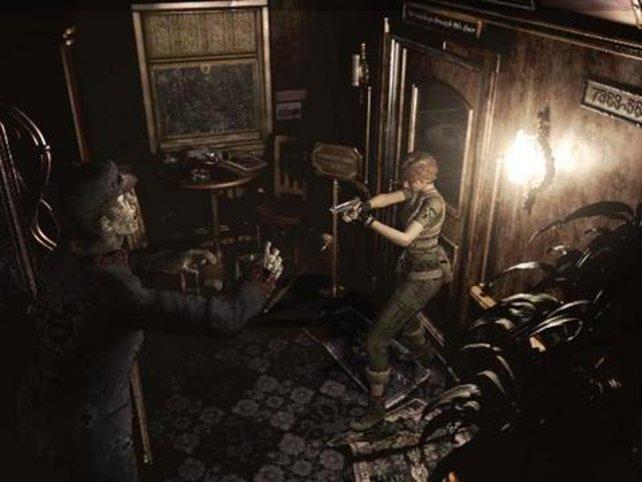 Auch in engen Räumen warten häufig mehrere Zombies.