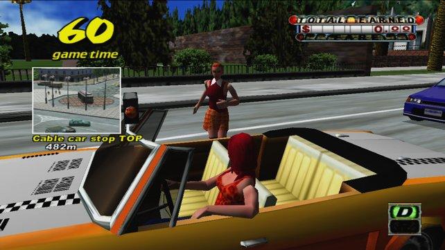 Ein Fahrgast steigt in euer Taxi.