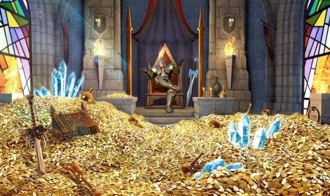 Schlossbesitzer und Goldsammler: Das ist Sir Painhammer.
