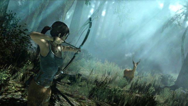 Lara dezimiert trotz weinendem Auge die Tierwelt der Insel.