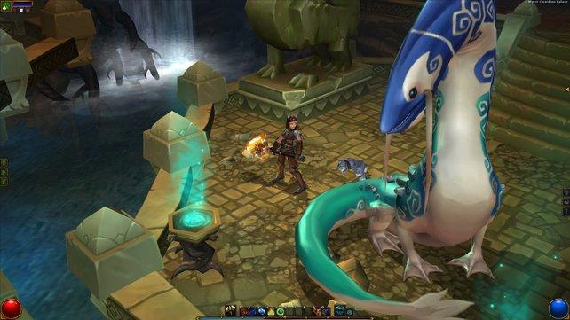 Diesem Wächter des Wassers hat der böse Alchimist Energie abgezapft.
