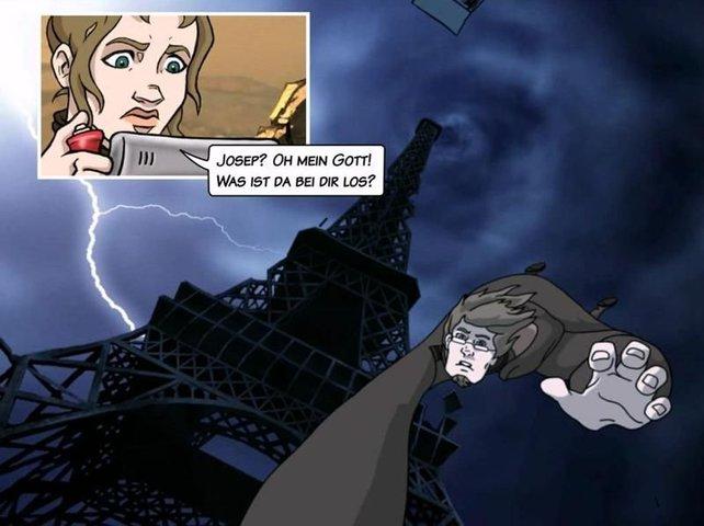 Joseph möchte noch einmal den Eiffelturm erklimmen.