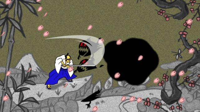Der Samurai zersäbelt die Geister nur mit dem richtigen Taktgefühl.