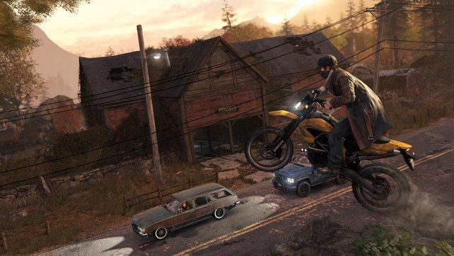 Mit dem Motorrad kommt ihr besonders schnell voran.