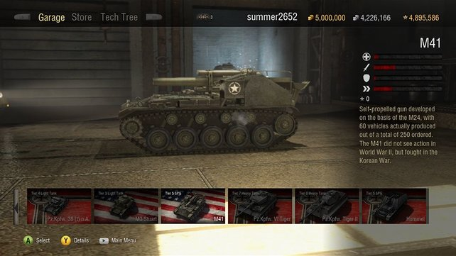 Euren Panzer rüstet ihr stückchenweise hoch, was mit echtem Geld schneller geht.