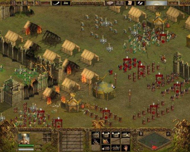 Legionäre bei der Verteidigung eines römischen Feldlagers