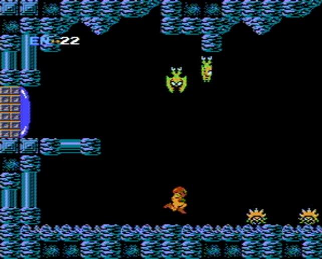 Der Spielablauf von Metroid orientiert sich an den Marios Sprüngen und der frei erkundbaren Welt von Zelda.