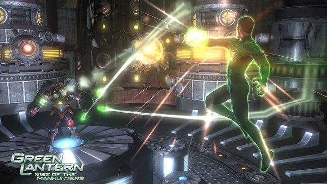 Grafisch macht Green Lantern eine gute Figur.