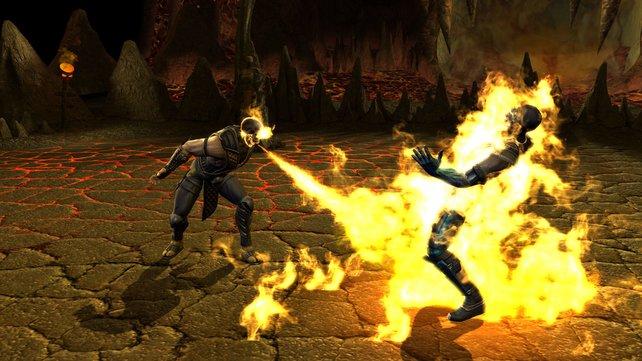 Scorpion spuckt Feuer, ganz schön derbe.