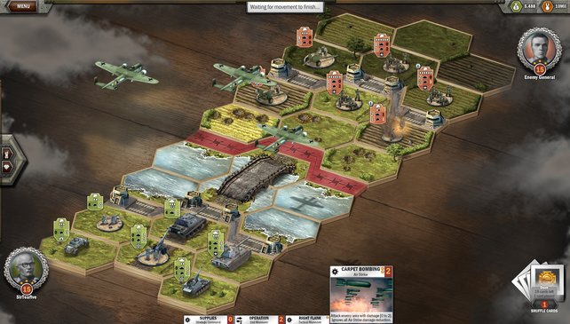 Pure Strategie - auf Hexfeldern müsst ihr die Schlachten für euch entscheiden.