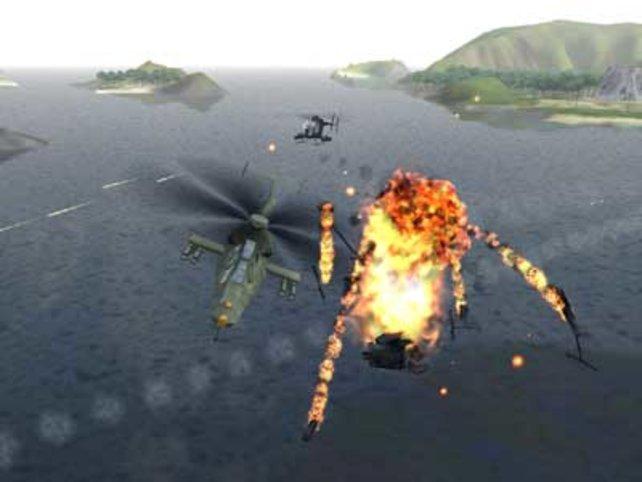 Heftige Explosionen zieren das Spiel
