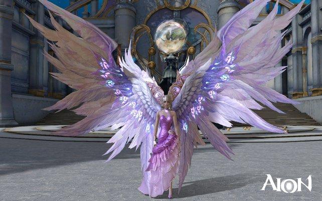 Neue Inhalte wie etwa Flügel sind für jeden Spieler im kostenlosen Aion erhältlich.