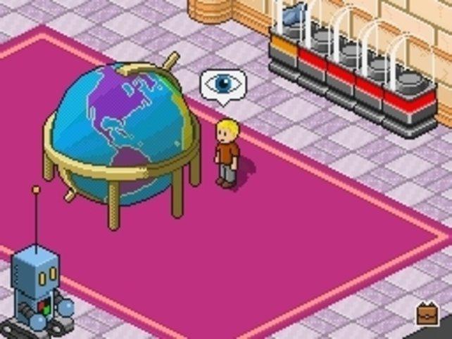 Beim Globus findet ihr eure Reiseziele, und das dazugehörige Quiz.