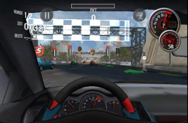 In der Cockpit-Perspektive kommt Atmosphäre auf.