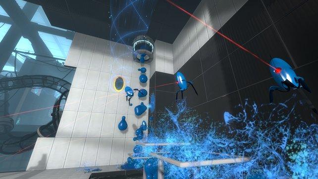 Wer diese mit blauem Hüpfgel beschmierten Geschütztürme genau betrachtet, erkennt in ihnen P-bodys Prototypen.