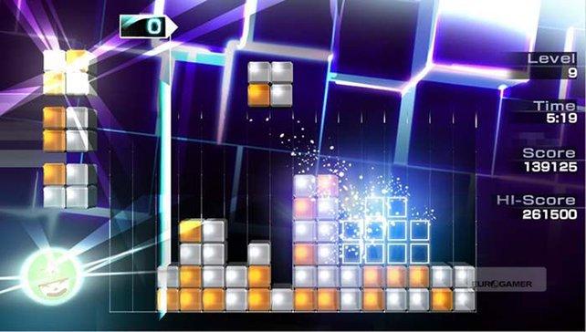 Lumines - Electronic Symphony setzt auf Quadrate.