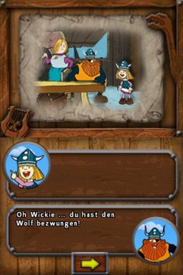 Wie im TV: Wickie und seine Eltern im Gespräch.