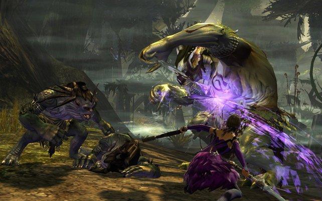 Die Kämpfe in Guild Wars 2 erfordern mehr Geschick als in manch einem anderen Online-Rollenspiel.