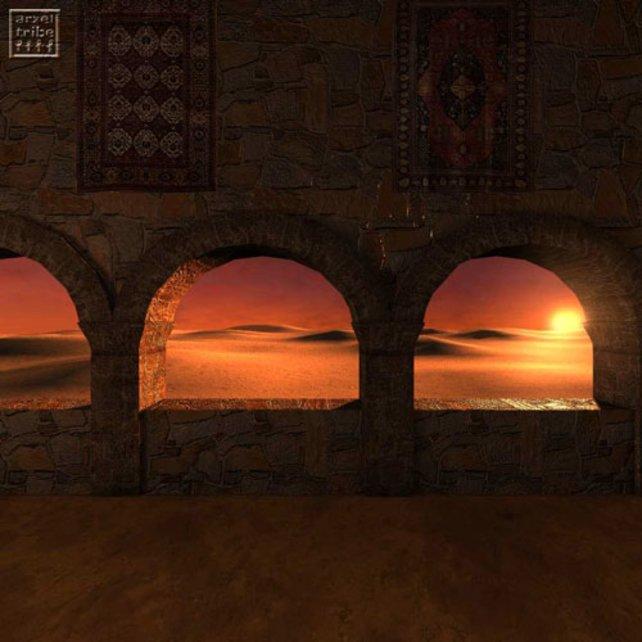 Ein Blick hinaus in die Wüste