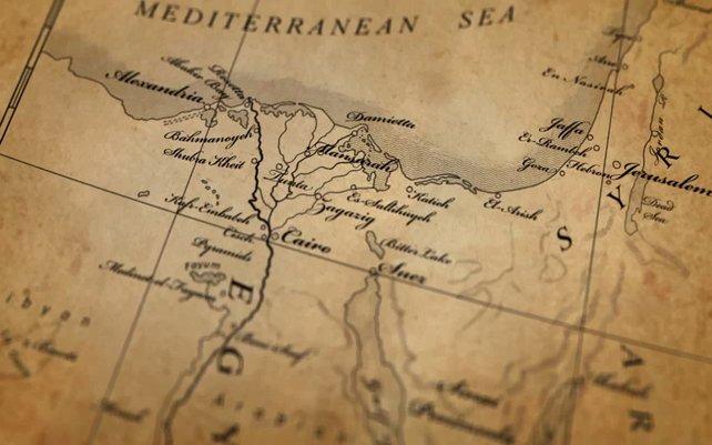 Napoleons Plan vom Afrika-Feldzug.