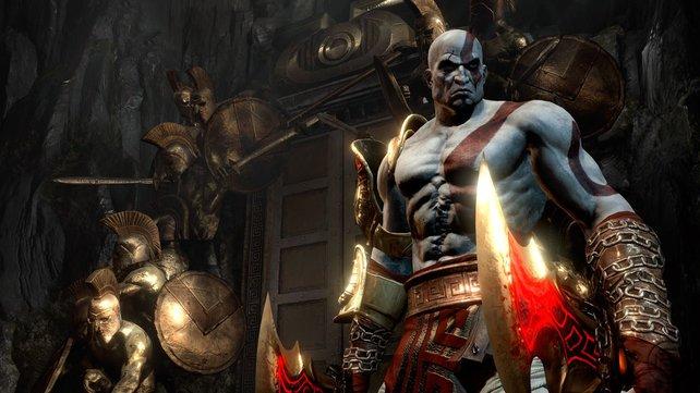 Kratos sorgt in seinem finalen Rachefeldzug für viele zerstückelte Körper.