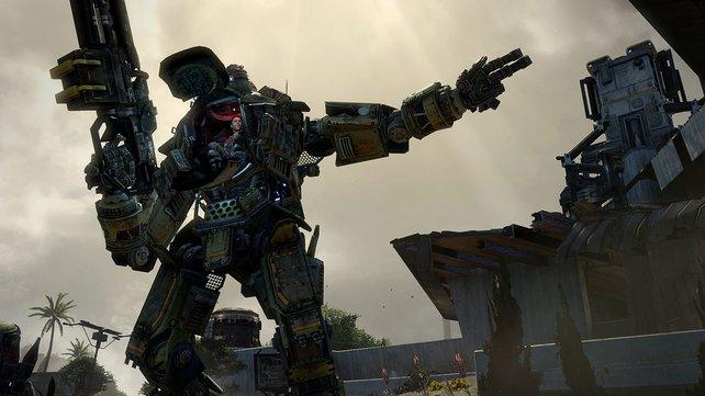In Titanfall sitzt ihr am Steuer von beeindruckenden Kampfmaschinen.