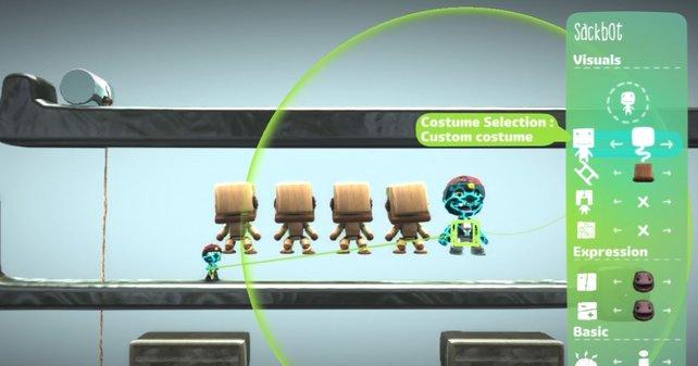 Sackboy-Klone: Gut nutzbar für abgefahrene Rätsel oder die scheinbare Teleportation der Spielfigur.