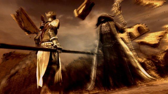 Dante tötet den Tod - und nimmt als Andenken seine Sense mit.
