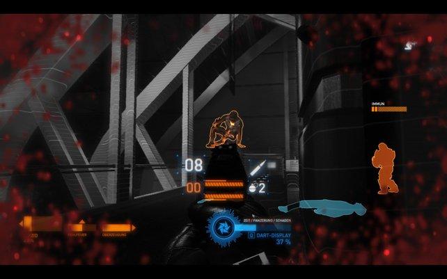 Im DART-Modus seht ihr bereits erfasste Gegner auch durch Wände. Außerdem ist die Zeit verlangsamt.