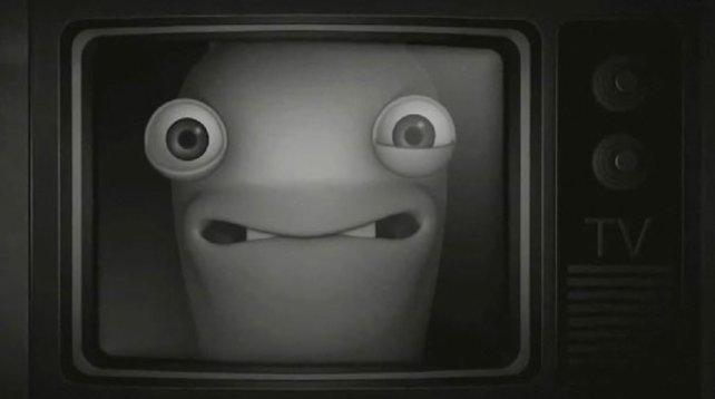 Erobern das TV: Raving Rabbids.