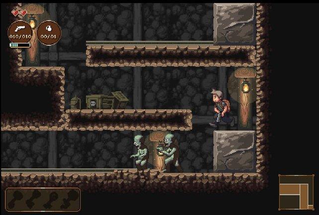 Black Sun orientiert sich an klassischen Pixel-Abenteuern.