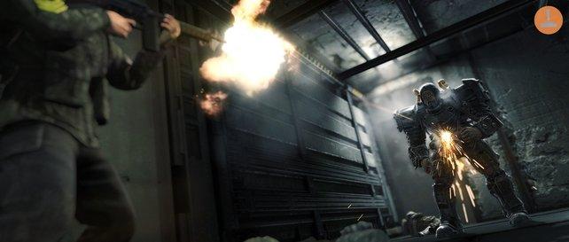 Der Supersoldat erweist sich als zäher und gut gepanzerter Gegner.